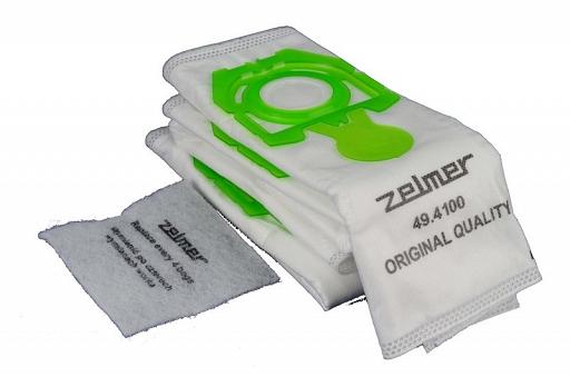 "Zelmer 49.4100 ""Orion"" SAFBAG 4 putekļu maisi + 1 HEPA filtrs (49.4100) aksesuārs putekļsūcējam"