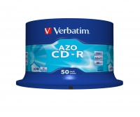 Verbatim CD-R 80/700MB 52X 50pack AZO CRYSTAL cake box - 433 matricas