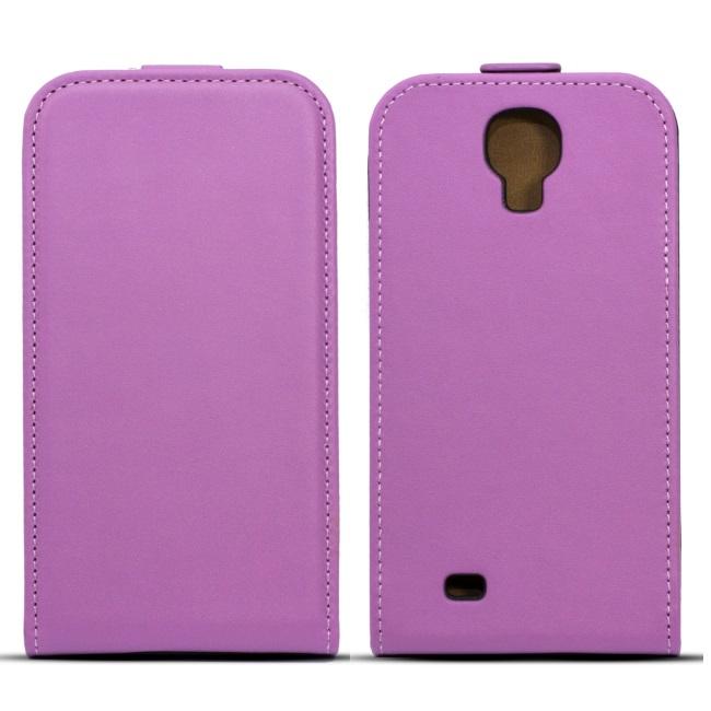 Forcell Slim Flip Case Samsung i9500 Galaxy S4 Violet aksesuārs mobilajiem telefoniem