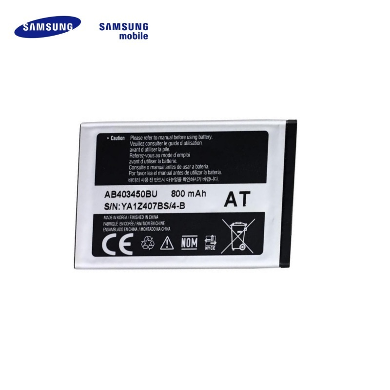 SAMSUNG AB403450BE Original Battery M3510 S3500 S5510 Li-Ion akumulators, baterija mobilajam telefonam