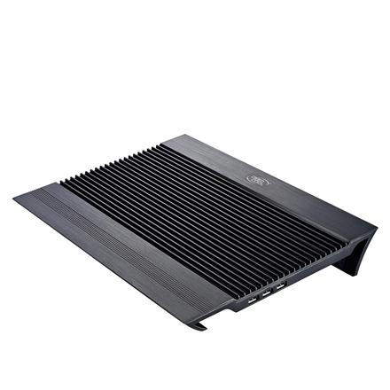 Deepcool Notebook Cooler N8 Black (DP-N24N-N8BK) portatīvā datora dzesētājs, paliknis