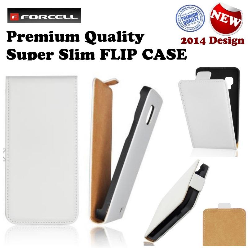 Forcell Slim Flip Case Apple iPhone 4 / 4S aksesuārs mobilajiem telefoniem
