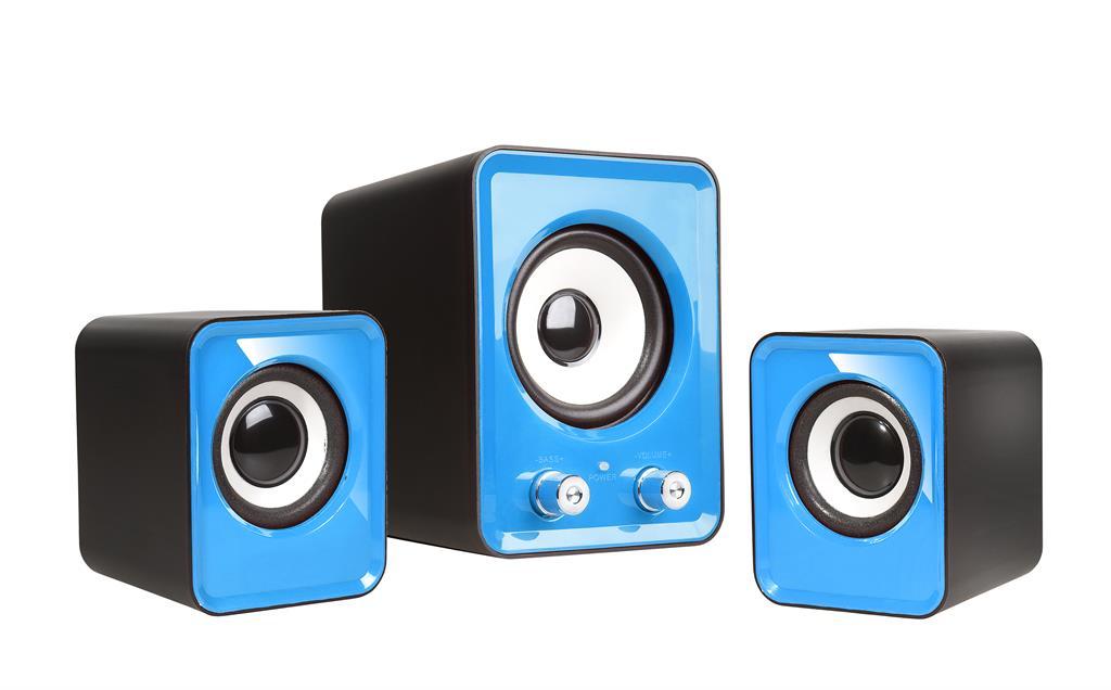 Speakers 2.1 TRACER OMEGA Blue USB datoru skaļruņi