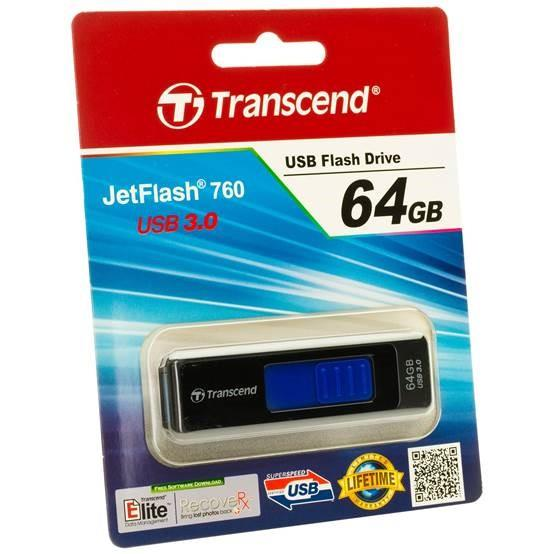 TRANSCEND MEMORY DRIVE FLASH USB3 64GB/760 BLUE TS64GJF760 USB Flash atmiņa