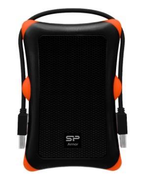 SILICON POWER 2TB, PORTABLE HARD DRIVE ARMOR A30, USB 3.0, BLACK Ārējais cietais disks