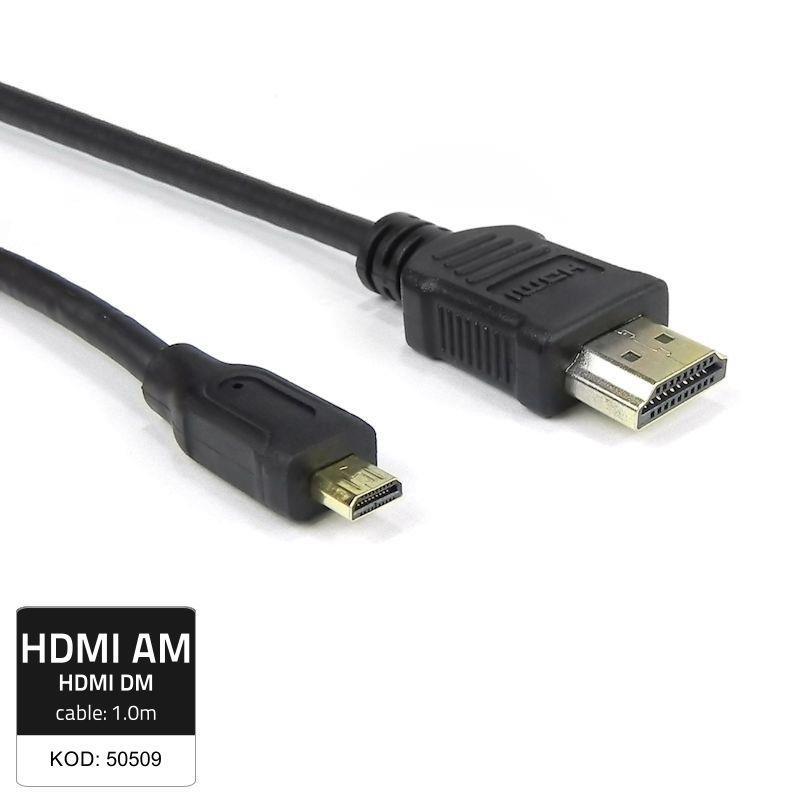 Qoltec Cabel HDMI Male/ Micro HDMI Male kabelis video, audio