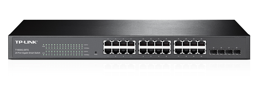 TP-Link T1600G-28TS (TL-SG2424) JetStream 24-Port Gigabit Smart 4 SFP Slots komutators