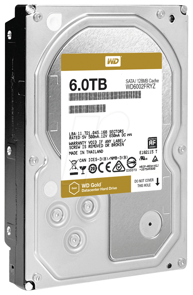 Western Digital WD Gold 6TB, 3.5
