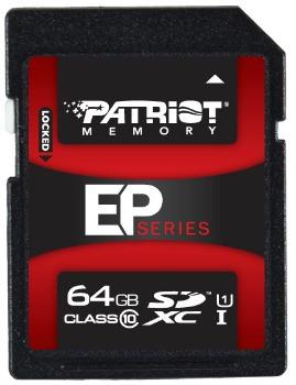 Patriot flash memory card EP Pro Series 64GB Class 10 SDXC atmiņas karte
