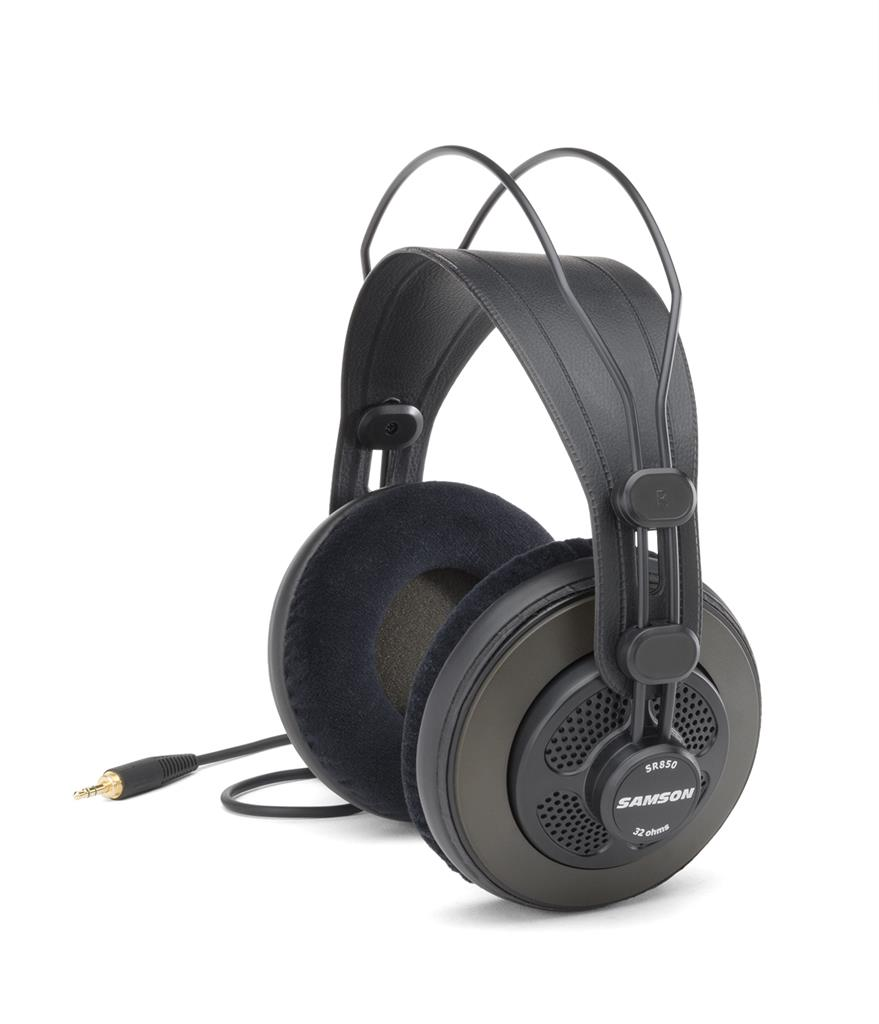 SAMSON SR850 Professional Studio Reference Headphones | 50mm drivers | 32 ohms austiņas