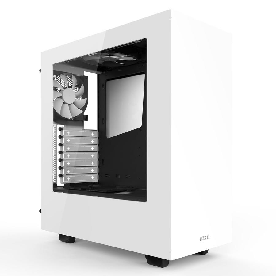 NZXT Source 340, White,  Midl tower with Window, 2x USB 3.0;  w/o PSU, mATX / ATX Datora korpuss
