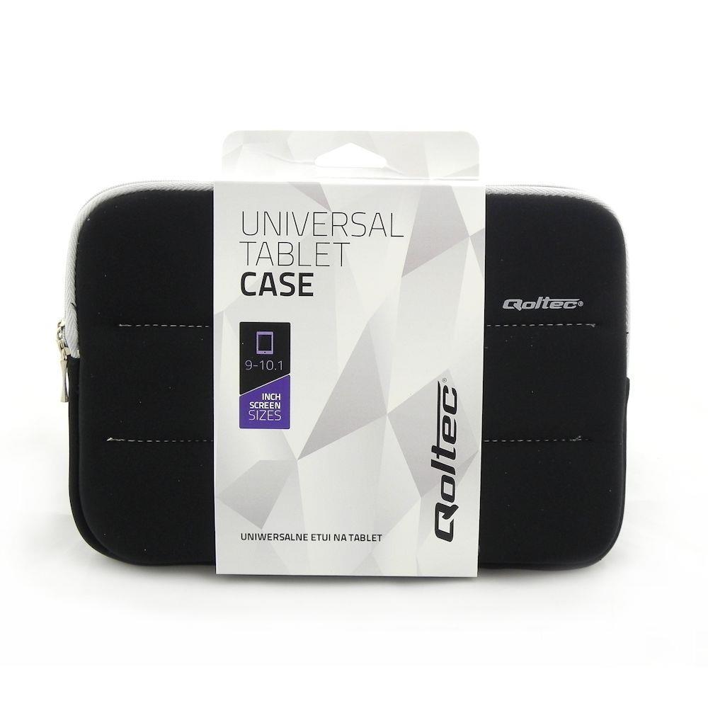 Qoltec Tablet Case High Effective Protection for Tablet 9-10.1'', black soma foto, video aksesuāriem