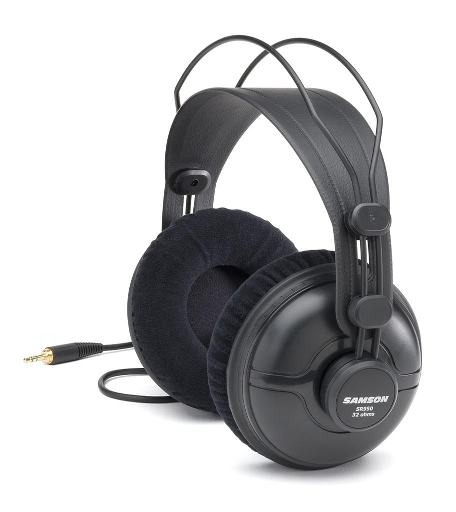 SAMSON SR950 Professional Studio Reference Headphones | 50mm drivers | 32 ohms