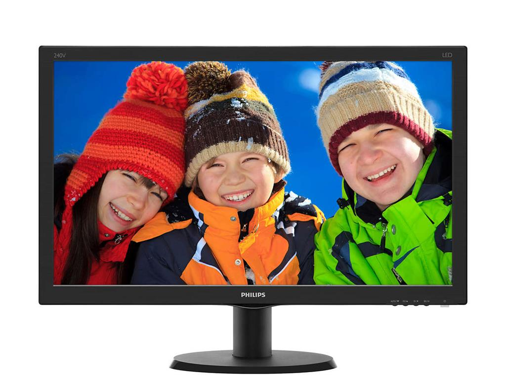 Philips 240V5QDSB/00, 23.8inch, panel IPS, D-Sub/DVI/HDMI monitors