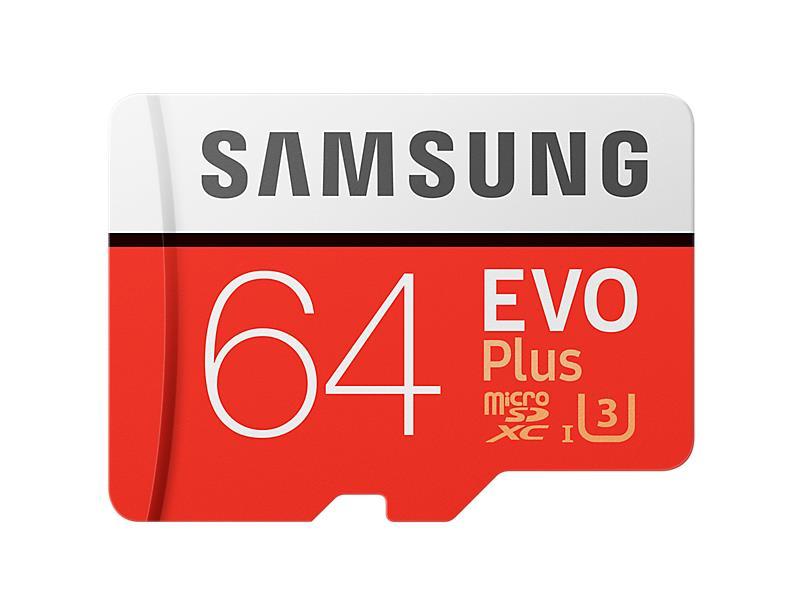 Samsung Evo Plus microSDXC 64GB CL10 UHS1 atmiņas karte