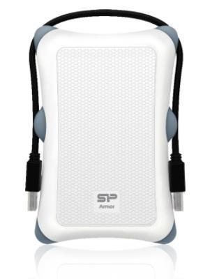 SILICON POWER 2TB, PORTABLE HARD DRIVE ARMOR A30, WHITE Ārējais cietais disks