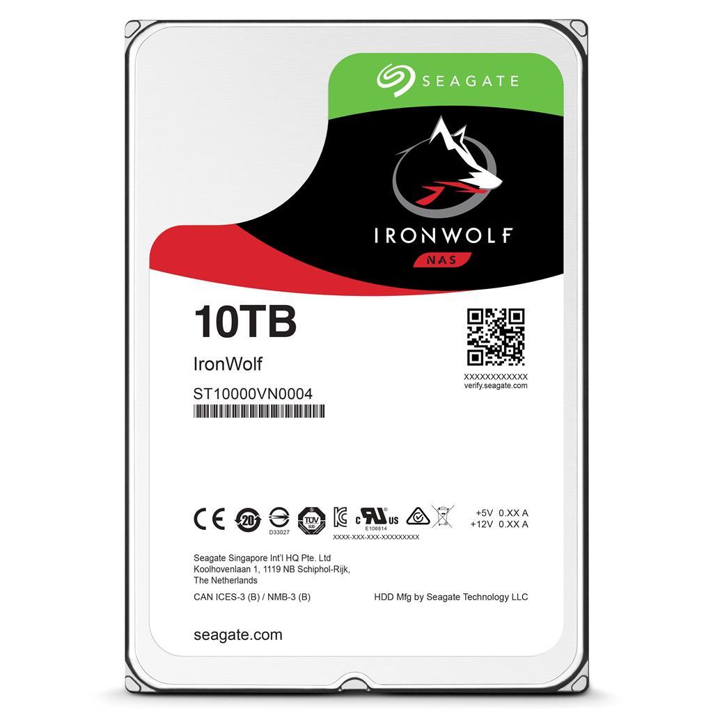 Seagate IronWolf HDD 3.5'' 10TB SATA3 7200RPM 256MB cietais disks