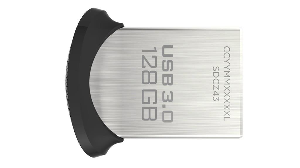 SanDisk Ultra Fit 128GB USB3.0, 128-bit AES, Up to 130MBs USB Flash atmiņa