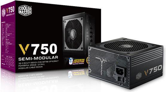 Cooler Master V750 750W Modular    80+ Gold Barošanas bloks, PSU