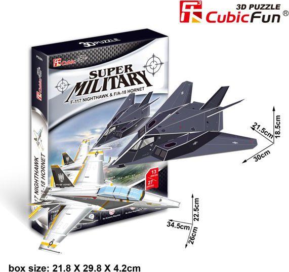 Cubicfun PUZZLE 3D F117 Nightawk&FA  18 HO - 01593 puzle, puzzle