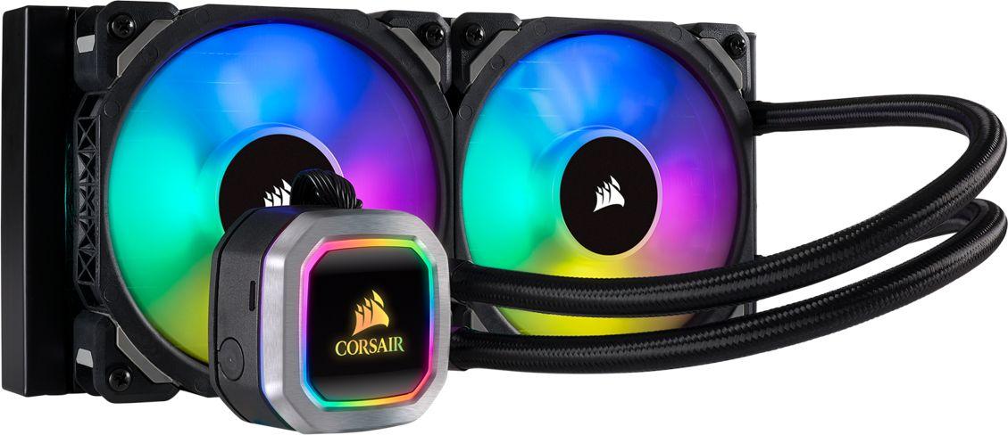 Corsair Hydro Series H100i RGB PLATINUM CPU Cooler, 280mm x 120mm x 30mm ūdens dzesēšanas sistēmas piederumi