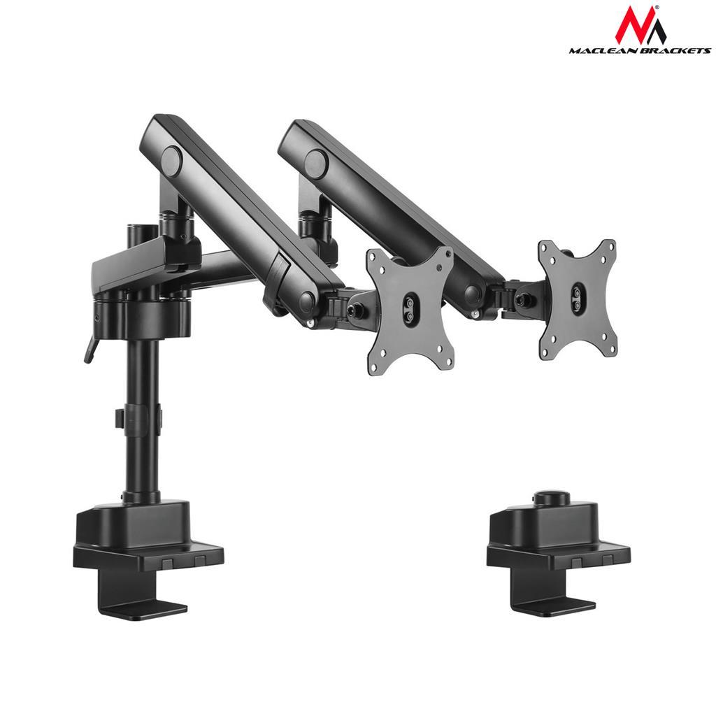 Maclean MC-812 Desk holder 2 LED screens 17-32 ''2x8kg vesa 75x75 and 100x100