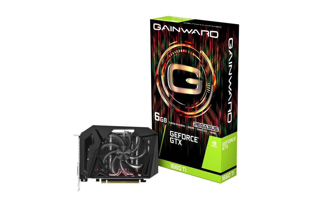 Graphics card GeForce GTX 1660 Ti PEGASUS 6GB GDDR 192BIT DVI-D/HDMI/DP video karte