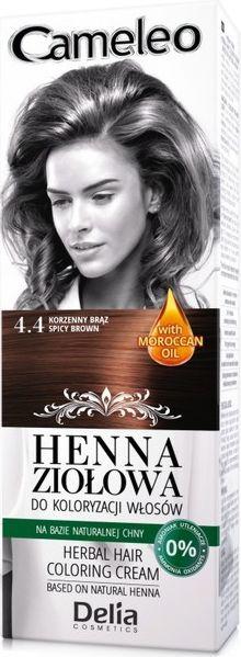 Delia Delia Cosmetics Cameleo Henna Ziolowa nr 4.4 korzenny braz 75g 20812-uniw