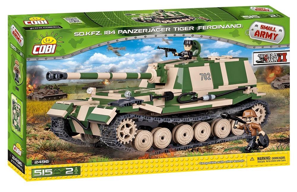 Cobi 2496 SMALL ARMY SDKFZ 184 Panzerjager TI - COBI-2496 konstruktors