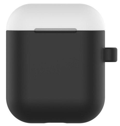 Devia Mīksta Silikona Turētājs Somiņa Austiņām Priekš Apple Airpods (MMEF2ZM/A) + Anti - Pazaudēšanas Riņķis