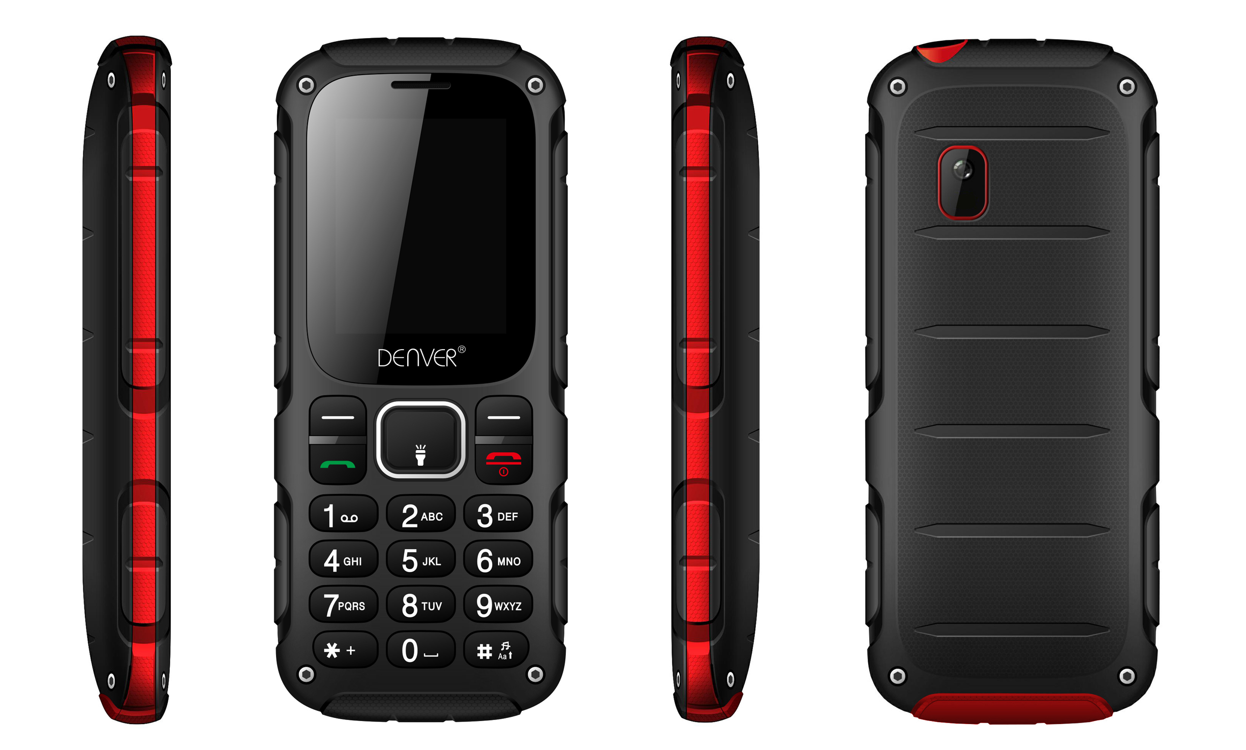 Denver WAS-18110M black/red ENG Mobilais Telefons
