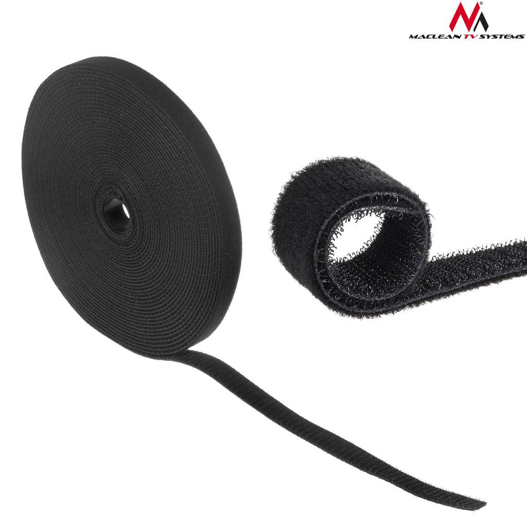 Maclean MCTV-542 Cable organizer strap 20mmx15.3m black