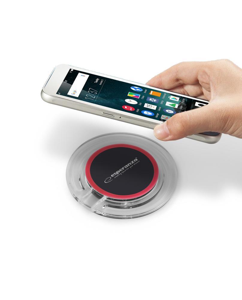 ESPERANZA EZ127KR LEROS - wireless charger induction iekārtas lādētājs