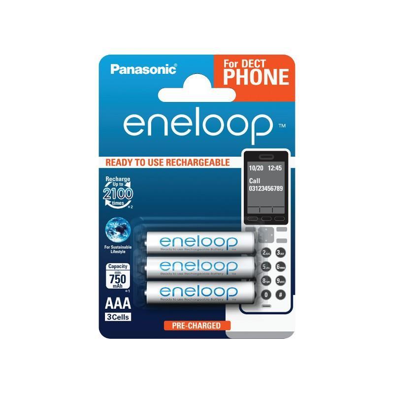 Panasonic Eneloop DECT R03/AAA 750mAh, 3 Pcs, Blister