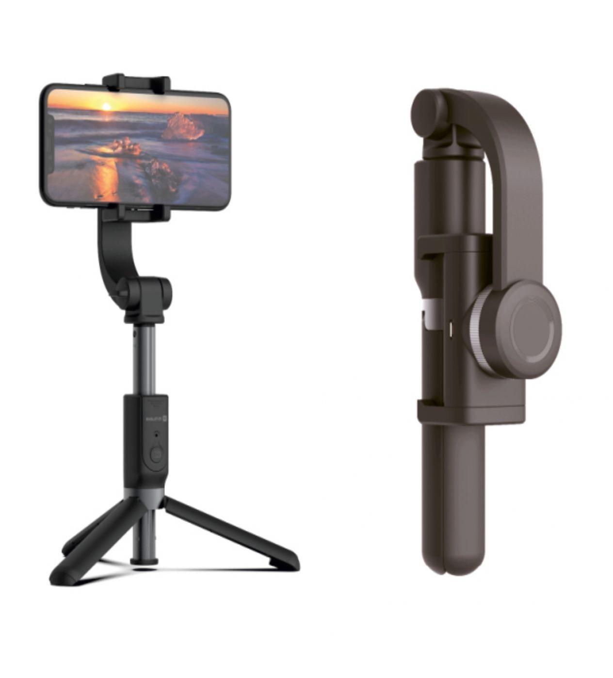 Evelatus Tripod Selfie Stick with Smart Stabilizer ETS01 Black  Black Selfie Stick