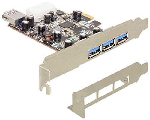 Delock PCI Express Card > 3 x external + 1 x internal USB 3.0 karte