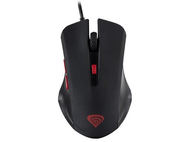 Gaming optical mouse Natec Genesis G22, USB, 2400 DPI, DPI switch Datora pele
