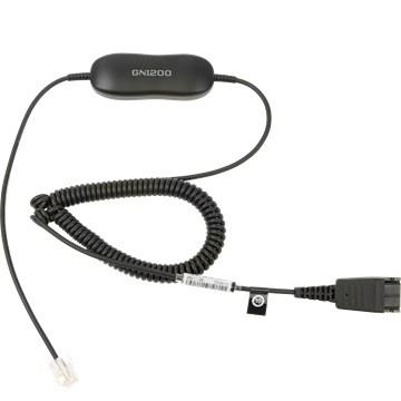 Jabra GN1200 QD to RJ10  0,7-2m cord kabelis, vads