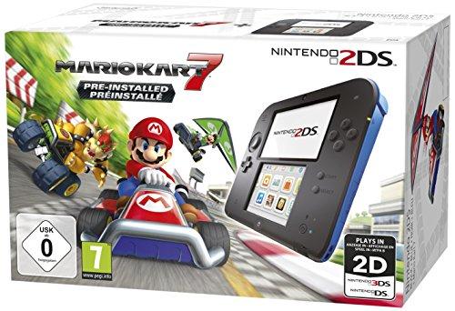 Nintendo 2DS black inkl. Mario Kart 7 - Limited Edition (3DS) (MK7 installiert) spēļu konsole