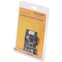 Delock  PCIe FireWire A/B 1 ext 1394A, 2 ext 1394B karte