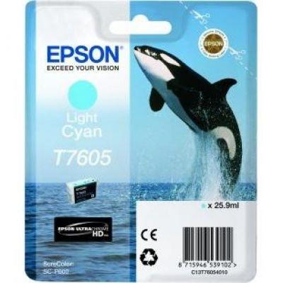 Ink Epson Singlepack Light Cyan | SureColor SC-P600 kārtridžs