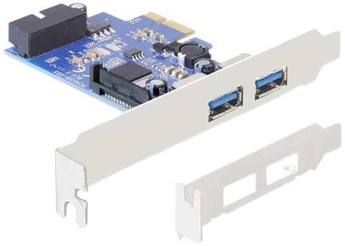 Delock  2 x ext. USB 3.0, LP, PCIe + 1xUSB3.0 Pin Header int karte