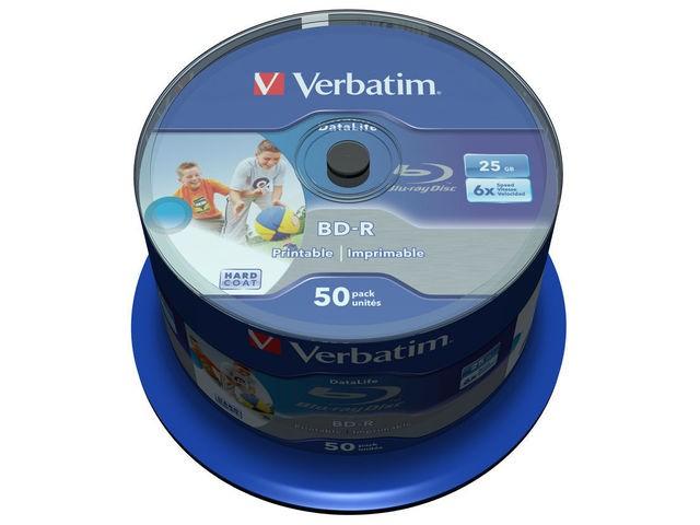 Verbatim BD-R 25GB 50er Spindel (6x) wide printable matricas