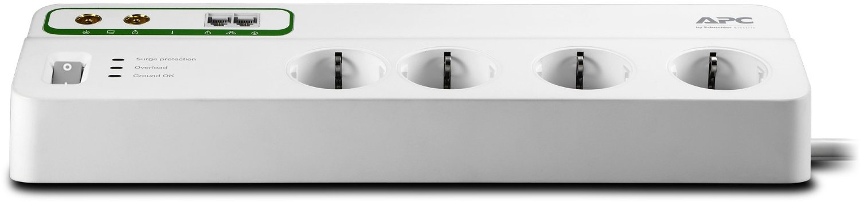 APC Performance SurgeArrest 8 outlets with Phone & Coax Protection 230V Schuko elektrības pagarinātājs