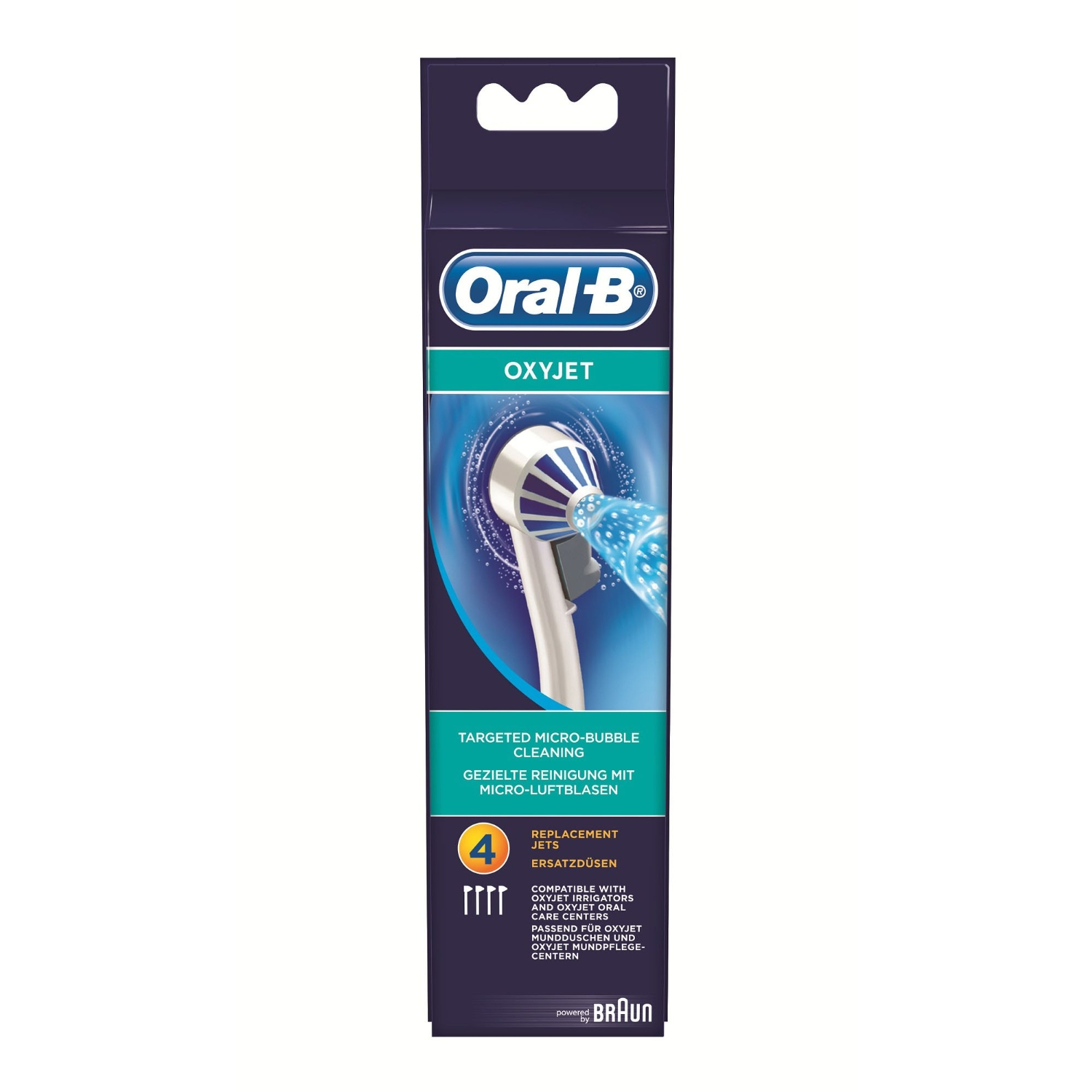 Braun Oral-B replacement jets OxyJet 4-parts mutes higiēnai