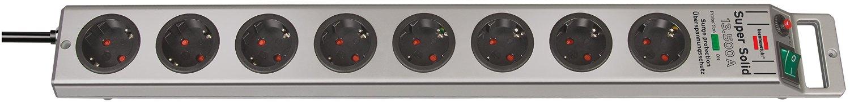 Brennenstuhl Surge Protec 8AC outlet 2,5m Silver  4007123174232 UPS aksesuāri