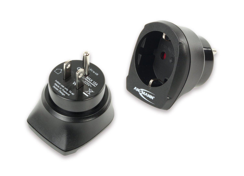 Ansmann Adapter wtyczki EU z USA (1250-0002) Satelītu piederumi un aksesuāri