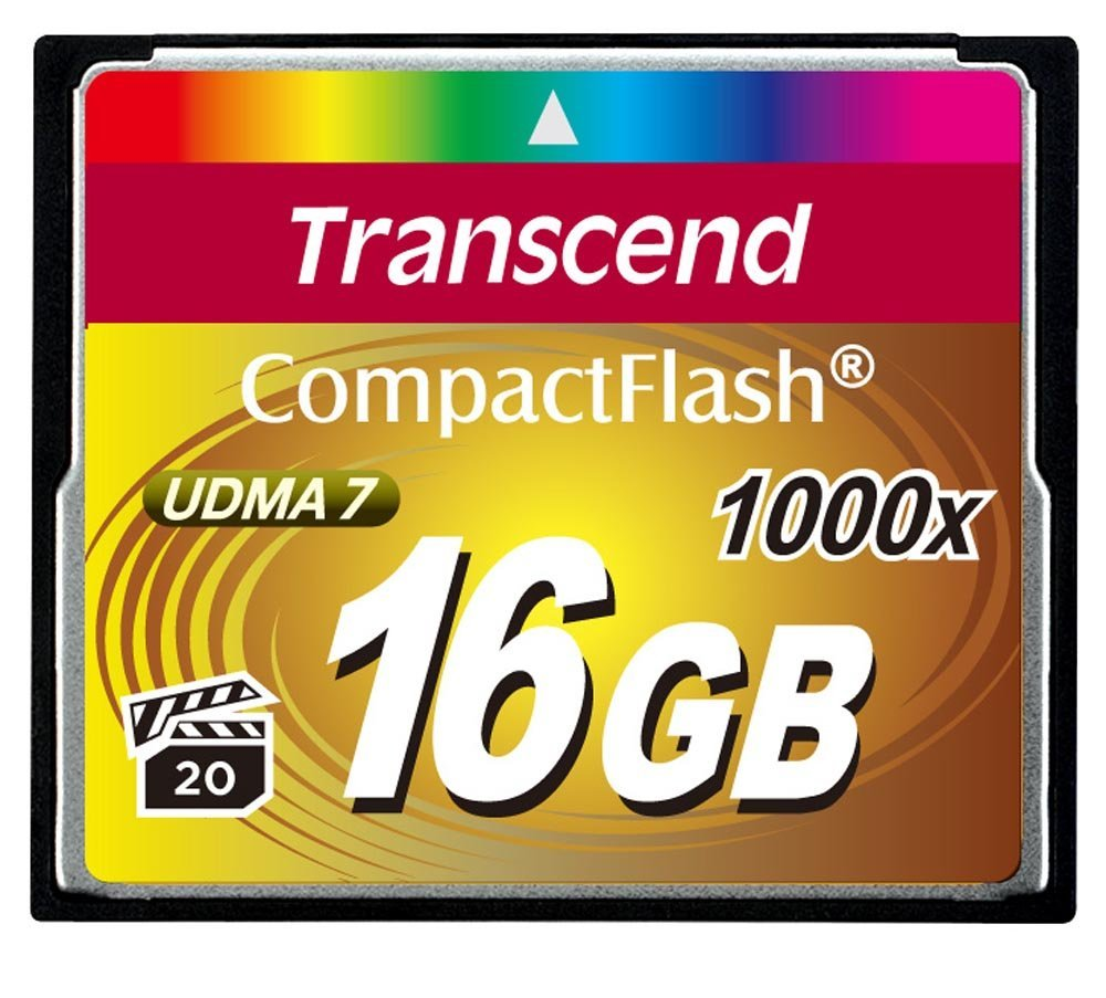 TRANSCEND MEMORY COMPACT FLASH 16GB/1000X TS16GCF1000 karšu lasītājs