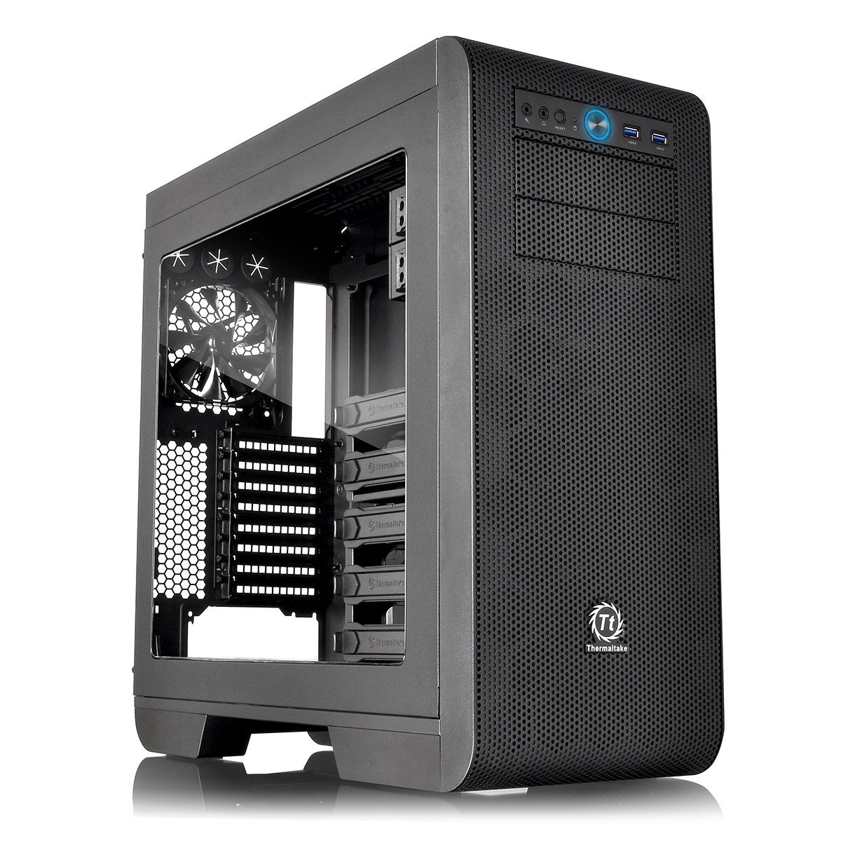 THERMALTAKE Core V51 Midi Tower black I/O Port Datora korpuss