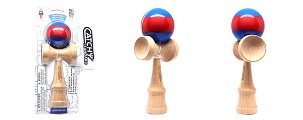 YoYoFactory KENDAMA STANDART zils/sarkans YO 332 galda spēle